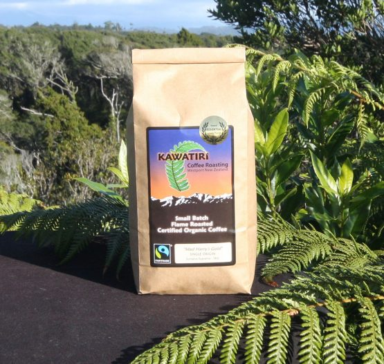 Kawatiri Mad Harry's Gold organic coffee